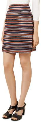 Hobbs London Tammi Striped Tweed Skirt