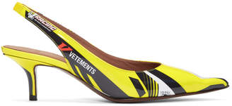 Vetements Yellow Racer Slingback Heels