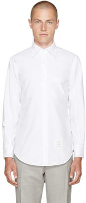 Thom Browne White Detachable Point Collar Shirt