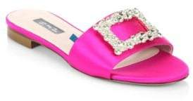 Sarah Jessica Parker Grace Embellished Satin Slides