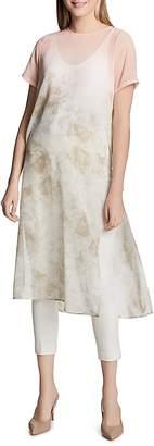 Calvin Klein Sheer Floral-Print Tunic