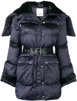 Pinko belted padded jacket