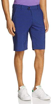 Greyson Arrowhead Geometric Print Performance Shorts $120 thestylecure.com
