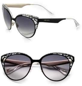 Jimmy Choo 55mm Estelle Cat-Eye Sunglasses
