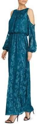 Ralph Lauren Cold-Shoulder Gown