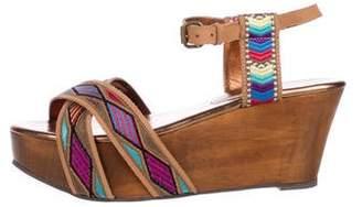 Cynthia Vincent Suede Platform Sandals