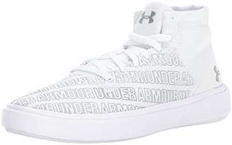 Under Armour Girls' Grade School Kickit2 Word Mark Mid Sneaker