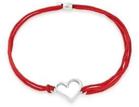 Alex and Ani Valentines Day Sterling Silver Heart Pull Cord Bracelet