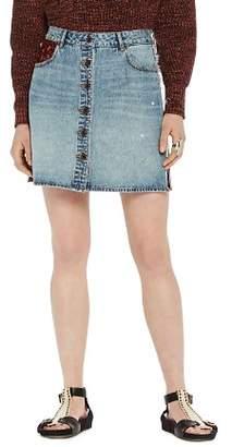 Scotch & Soda Button-Front Denim Skirt