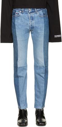 Vetements Blue Reworked Jeans $1,690 thestylecure.com