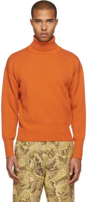 Loewe Orange Wool Turtleneck