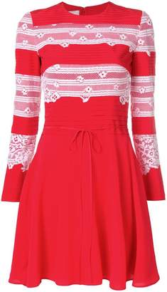Valentino lace panel knitted dress
