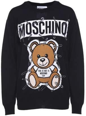 Moschino Safety Pin Teddy Virgin-wool Sweater