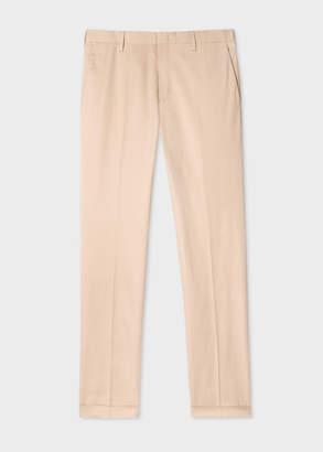 Paul Smith Men's Slim-Fit Sand Stretch-Cotton Pants