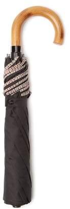 Paul Smith Stripe Print Foldable Umbrella - Mens - Black