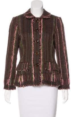 Lela Rose Tweed Frayed Jacket