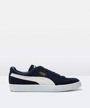 Puma Suede Classic Navy White Shoe