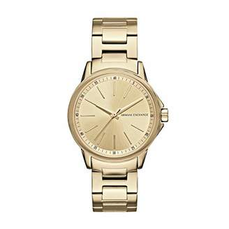 Armani Exchange Womens Analogue Quartz Watch with Stainless Steel Strap AX4346