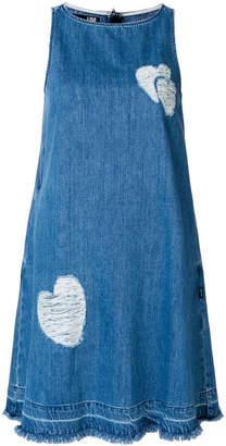 Love Moschino frayed heart dress