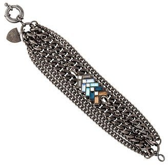 Giles & Brother Multistrand Chevron Crystal Bracelet $75 thestylecure.com