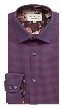 ca03fa4cdba699 Ted Baker Endurance Regular Fit HoundstoothCotton Dress Shirt