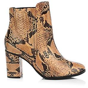 Schutz Women's Fabricia Snakeskin-Embossed Leather Ankle Boots