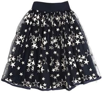 MonnaLisa Stars Embroidered Tulle Long Skirt