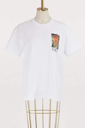 Kenzo Cotton jungle printed T-shirt