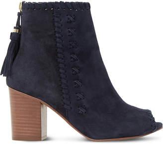 Dune Primrose suede peep-toe ankle boots