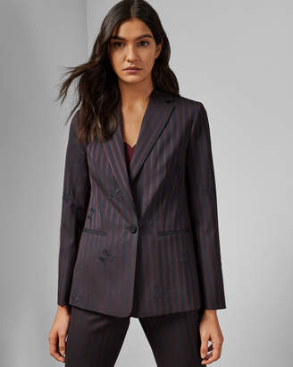 Ted Baker EILYANA Striped single breasted jacket