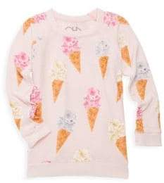 Chaser Little Girl's& Girl's Ice Cream Cone Tee