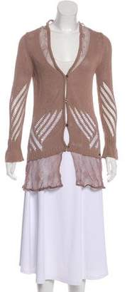 Just Cavalli Button-Up Crochet Cardigan w/ Tags