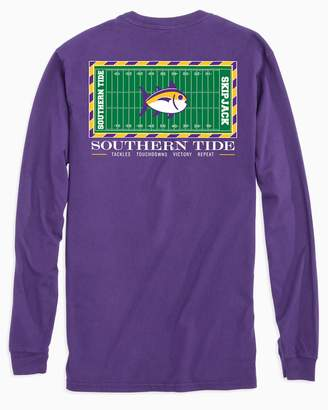 Southern Tide Gameday Football Stadium Long Sleeve T-shirt - Louisiana State University