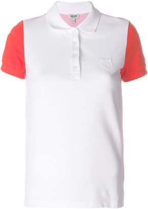 Kenzo contrast sleeve polo shirt