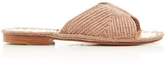 Carrie Forbes Salon Two-Tone Raffia Slides