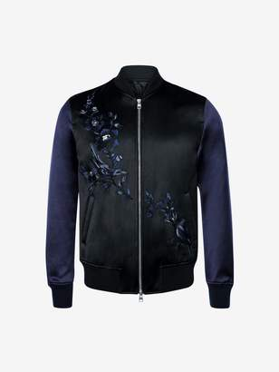 Alexander McQueen Floral Embroidered Bomber Jacket