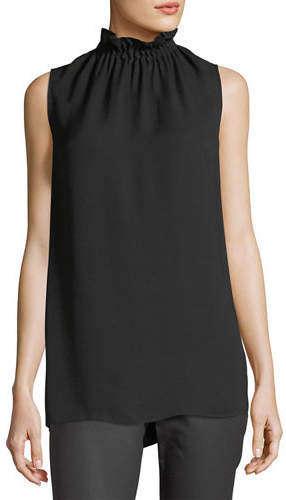 Lafayette 148 New York Percy Sleeveless Silk Blouse, Plus Size