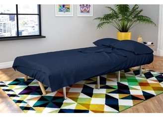 Novogratz Futon & Twin Sleeper Sofa 4 Piece Brushed Microfiber Sheet Set, Multiple Colors