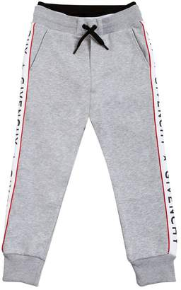Givenchy Cotton Sweatpants With Logo Side Bands
