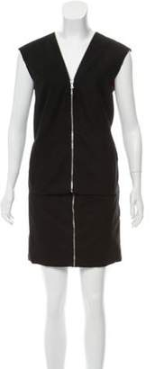 Marc Jacobs Wool Mini Dress Black Wool Mini Dress