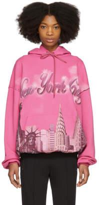 Balenciaga Pink Oversized New York Hoodie