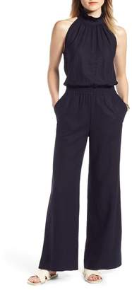 075ec85cd78ef ... 1901 Ruffle Neck Linen Blend Jumpsuit
