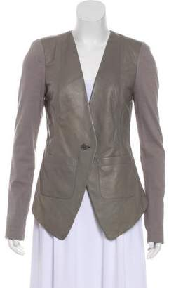 Yigal Azrouel Cut25 by Leather Long Sleeve Jacket