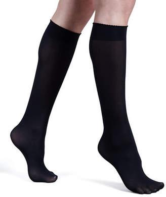 Wolford Velvet de Luxe 50 Denier Knee-High Socks