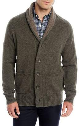 Peter Millar Men's Shawl-Collar Wool-Yak Cardigan