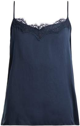 Icons Peony lace silk camisole