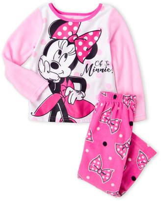 Minnie Mouse (Girls 7-16) Two-Piece Pink Minnie Pajama Set