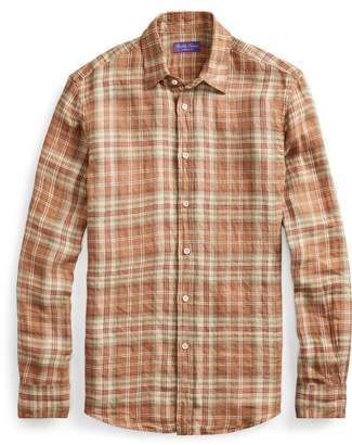 Ralph Lauren Plaid Linen Twill Shirt