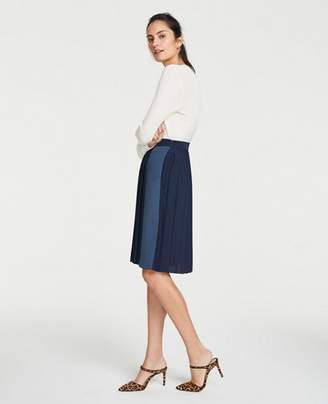 Ann Taylor Colorblock Pleated Full Skirt