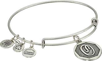 "Alex and Ani Rafaelian Silver-Tone Initial ""O"" Expandable Wire Bangle Bracelet"